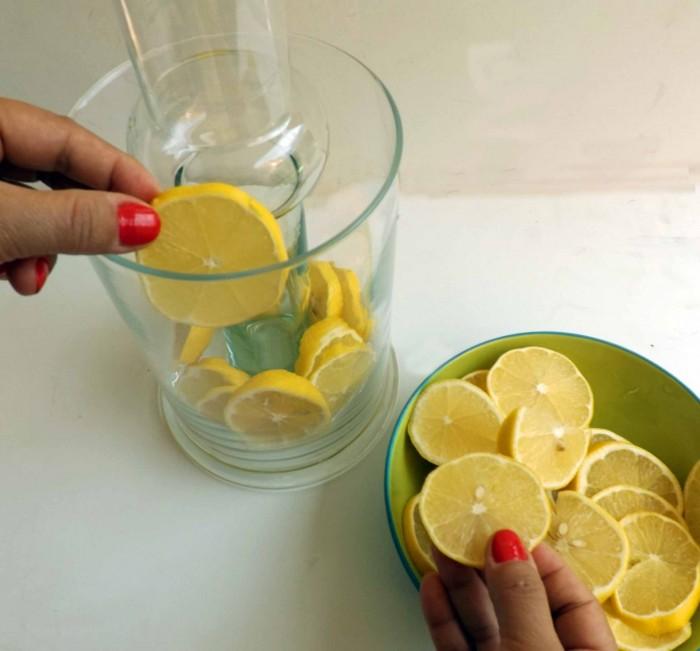 llenando de limones
