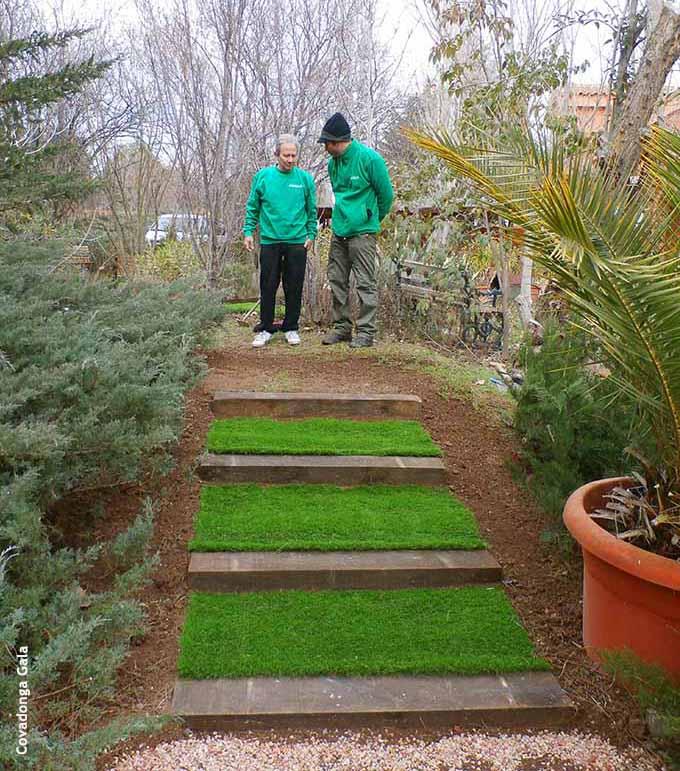 C mo hacer una escalera en el jard n - Escaleras para jardin ...