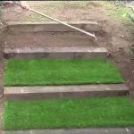 Cómo hacer una escalera en el jardín